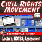 Civil Rights Era Lecture Power Point with Fill-In Notes (U