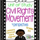 Civil Rights Movement Unit of Study {Lesson Plans, Assessm