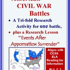 Civil War Battles:  Tri-fold Research Report