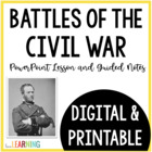 Civil War Battles and Surrender