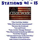 Civil War Classroom Stations # 1 - 15