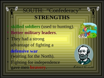Civil War PowerPoint- Strengths & Weaknesses of Opposing Sides