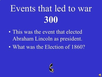 Civil War Review Jeopardy