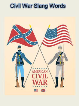 Civil War Slang Words Activity
