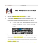Civil War _ Fill in the Blanks + Key (To Kill a Mockingbird)