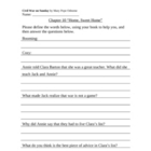 Civil War on Sunday Worksheets (Magic Tree House #21)
