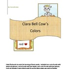 Clara Bell Cow&#039;s Colors -  flashcard set