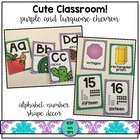 Cute Classroom! (purple and turquoise chevron classroom decor)