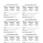 Class Behavior Tickets (6 to a page)
