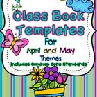 Class Book Template Pack {April and May Themes}- Common Co