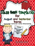 Class Book Template Pack {August and September Themes}- Co