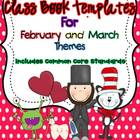 Class Book Template Pack {February and March Themes}- Comm