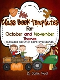 Class Book Template Pack {October and November Themes} Com