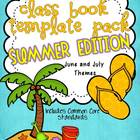 Class Book Template Pack {SUMMER EDITION} Common Core Based