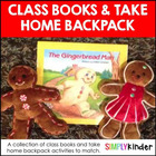 Class Books & Take Home Backpacks!
