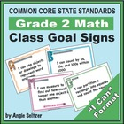 Grade 2 Class Goal Signs for Common Core Math Standards