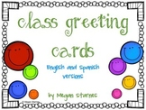 Class Greeting Cards (Birthday, Thank you and New Baby)-En