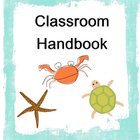 Class Handbook Cover Page (Sea/Ocean Theme)