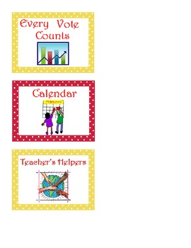 Class Jobs Bulletin Board Set