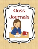 Class Journal Cover Pages