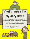 Class Mystery Box-a Common Core speaking and listening activity