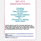 Class Posters - I&#039;m Done, Fair vs. Equal, &amp; Inferences