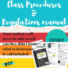 Class Procedures & Regulations