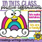 """Class Rules """"In This Classroom"""" Rainbow Chevron Posters"""