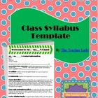 Class Syllabus Template