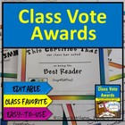 """Class Votes Awards"" Kit-[End of the Year/ After Break/ El"