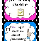 Class Writing Checklist Posters