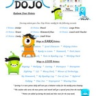 ClassDojo Poster to Redeem Your Points