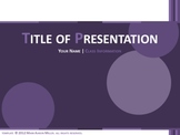 Classic PowerPoint Template (Purple)