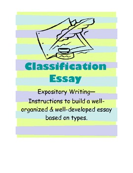 Classification Essay Instruction with Prewriting Activities