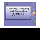 Classifying, Measuring and Constructing Angles on the SMARTboard