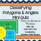 Classifying Polygons and Angles Mini Quiz for Interactive 