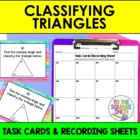 Classifying Triangles Task Cards and Record Sheets