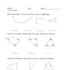 Classifying Triangles Worksheet 2