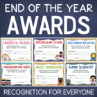 Classroom Awards Certificates - 23 Colorful Designs - End