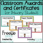 Classroom Awards &amp; Certificates for Primary Students {FREE}