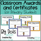 Classroom Awards &amp; Certificates for Primary Students {Polka Dots}