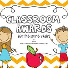 Classroom Awards {for the Entire Year!}