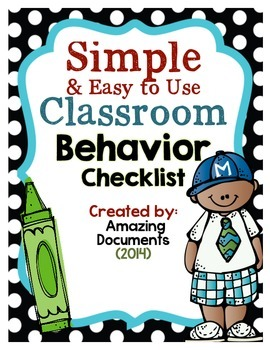 Classroom Behavior Checklist