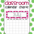 Classroom Calendar Chart (Polka Dots)