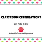 Classroom Celebration Freebie