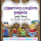Classroom Centers Posters {Jungle/Safari Themed}