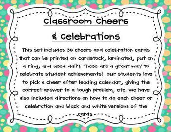 Classroom Cheers and Celebrations
