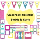 Classroom Colorful Decor~ EDITABLE~ Banner, Word Wall Alph