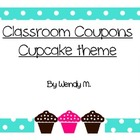 Classroom Coupons - Cupcake Theme