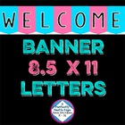 Classroom Decor ~ Welcome Banner ~ Pink & Blue with Stars